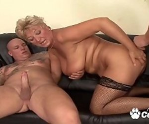 Mature Double Penetration Tube